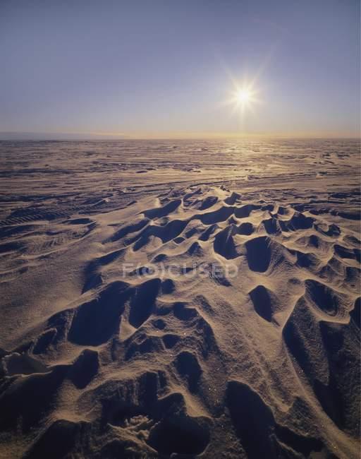 Солнце на Снежное плато — стоковое фото