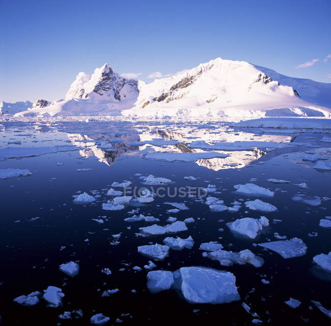 Côte ouest, la péninsule Antarctique — Photo de stock