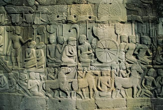 Байон храмовий комплекс, Ангкор — стокове фото