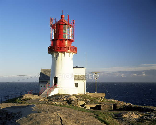 Lindesnes Fyr lighthouse — Stock Photo