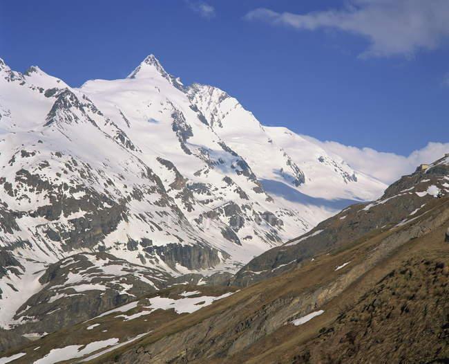 Спостереження вид спостереження видом гору регіоні Гроссглокнер — стокове фото