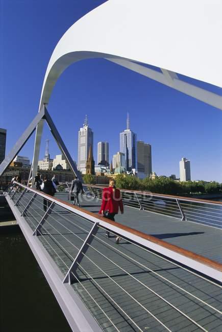 Skyline de cidade de Southgate, Melbourne — Fotografia de Stock