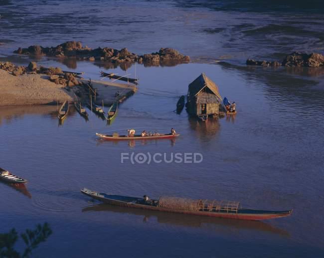 Meking River at Pakbeng — Stock Photo