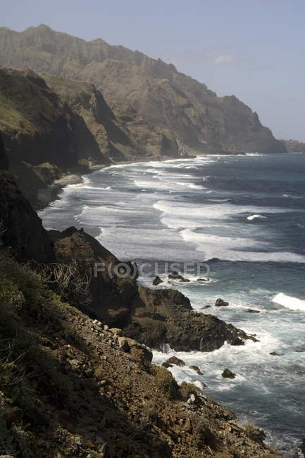Rocky coastline, Cape Verde — Stock Photo