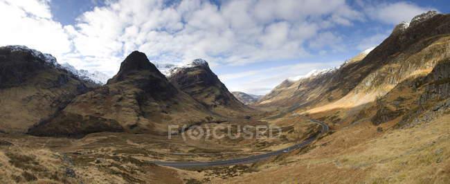 Panoramic view of Glencoe showing — Stock Photo