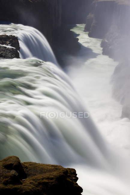 Cascate di Gullfoss durante il giorno — Foto stock
