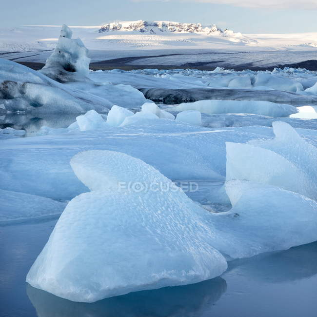 Vista sopra Jokulsarlon, laguna glaciale — Foto stock