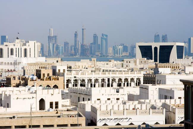 Paisagem urbana, Doha, Qatar — Fotografia de Stock