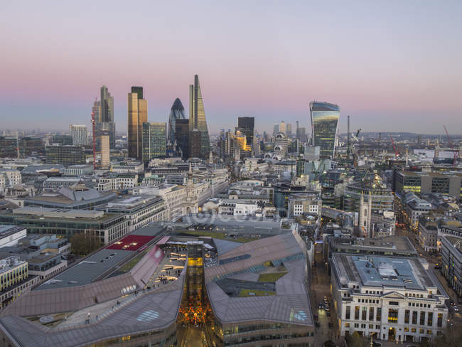 City skyline of London — Stock Photo