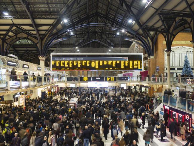 Liverpool Street station interior, London — Stock Photo
