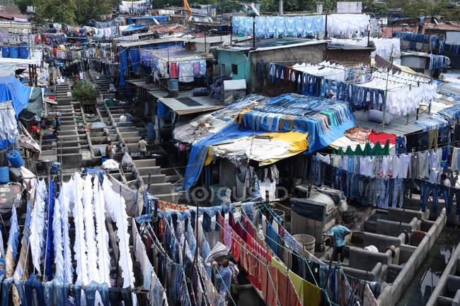 Slum waschen ghats — Stockfoto