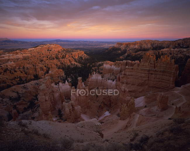 Bryce Canyon National Park at sunset — Stock Photo