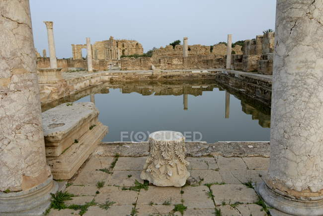 Hadrianic bath in Leptis Magna — Stock Photo