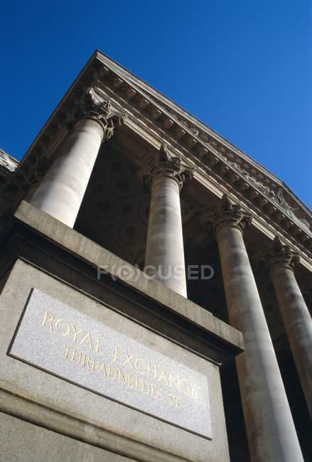 Королівський Exchange, Лондон — стокове фото