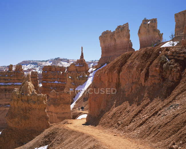 Pinnacles and rock formations caused by erosion — Stock Photo
