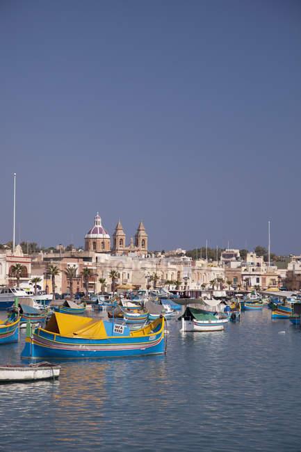 Marsaxlokk, Malta, Mittelmeer, Europa — Stockfoto