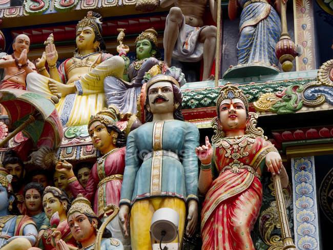 Hindu-Tempel Sri Mariamman äußere detail — Stockfoto