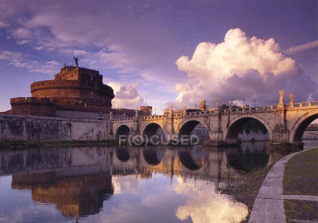 Bridge of Angels and Castello San Angelo — Stock Photo