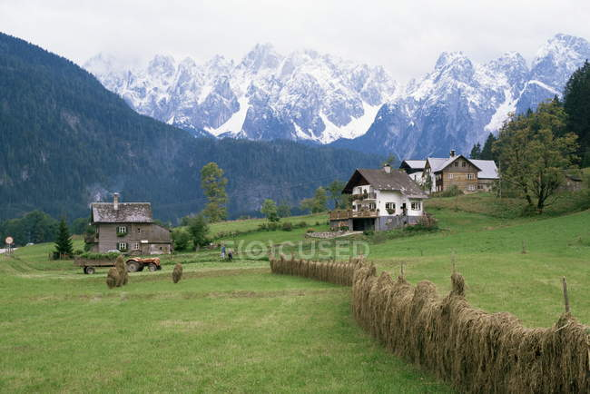Перегляд Gosau в Австрії — стокове фото