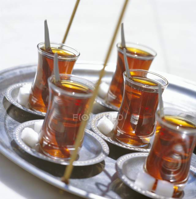 Tè turco in vetri — Foto stock