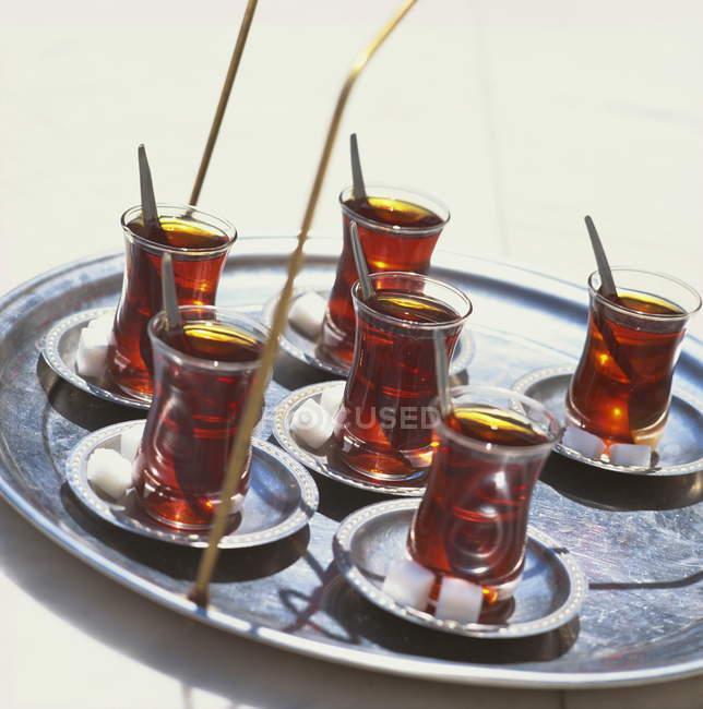 Vassoio di tè turco — Foto stock