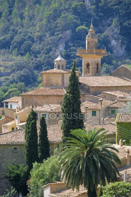 Elevated view of Valldemosa — Stock Photo