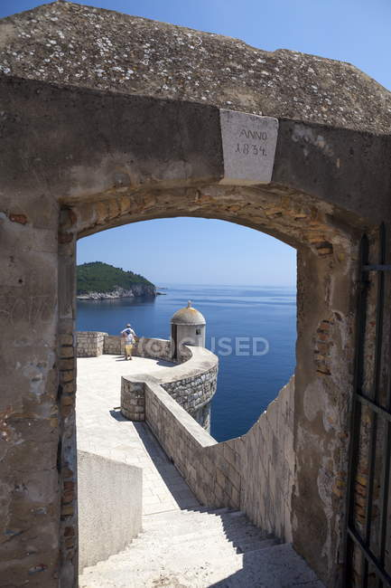 City walls and view over sea — Stock Photo