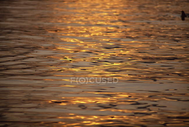 Calm water reflecting dusk light — Stock Photo