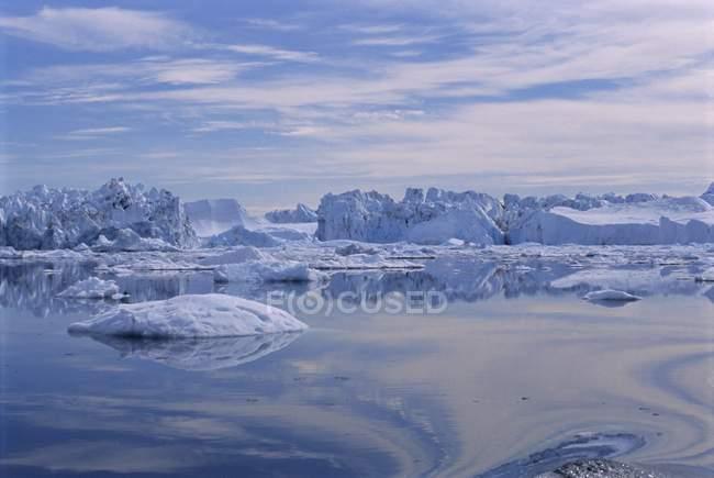 Eisberge von den Eisfjord — Stockfoto