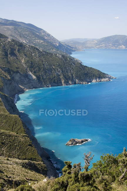 Вид на узбережжі в місті Assos — стокове фото