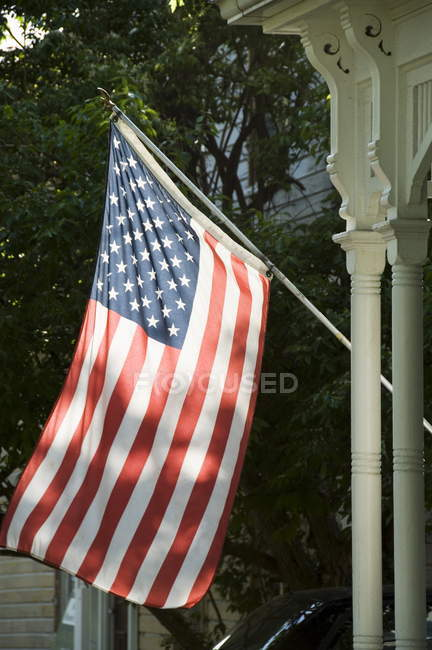 Vista della bandiera degli Stati Uniti — Foto stock