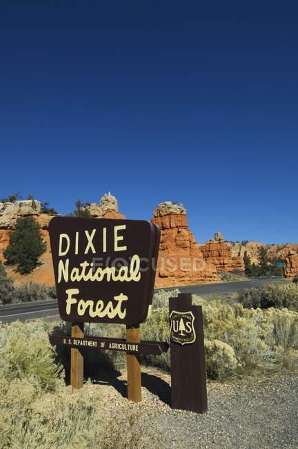 Rosso canyon nella foresta nazionale di dixie — Foto stock