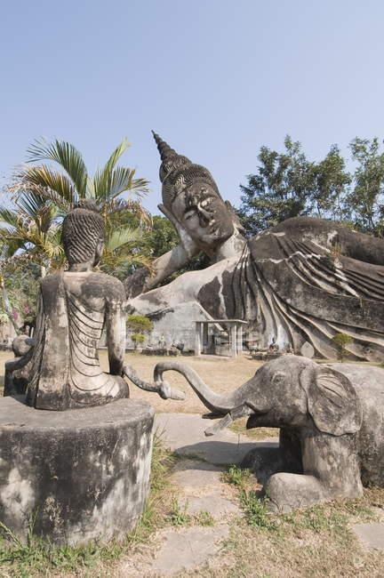 Buddha Park, Xieng Khuan, Laos — Stockfoto