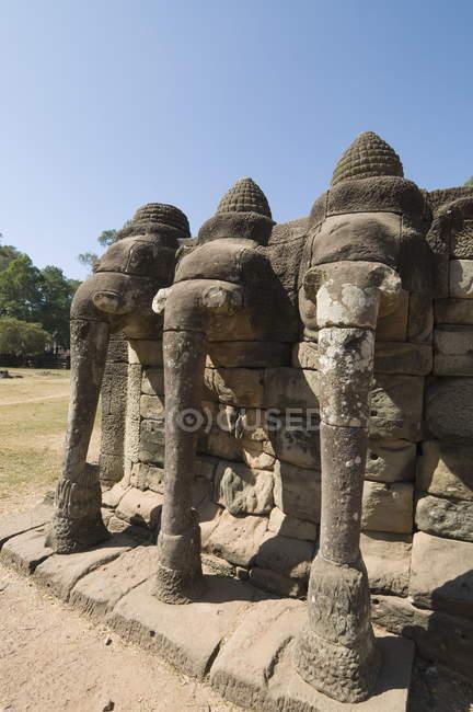 Terrasse des éléphants, Angkor Thom — Photo de stock