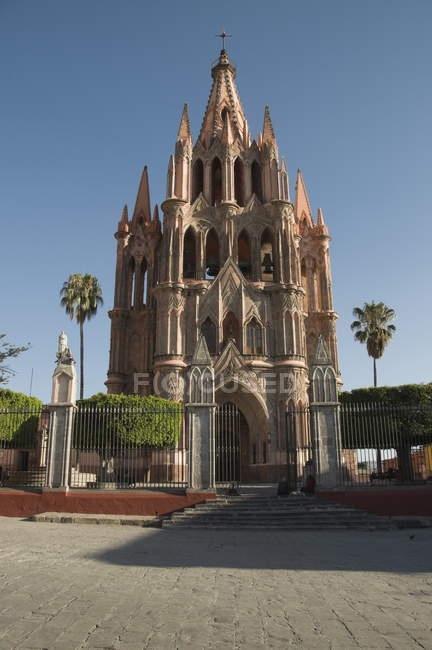 Церква в Сан Мігель де Альєнде — стокове фото