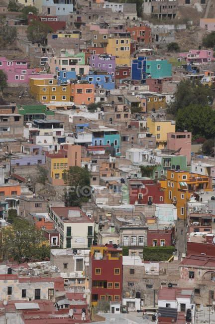 Барвистими будинками, Гуанахуато — стокове фото