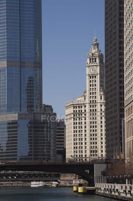 Edifício, de Wrigley chicago — Fotografia de Stock