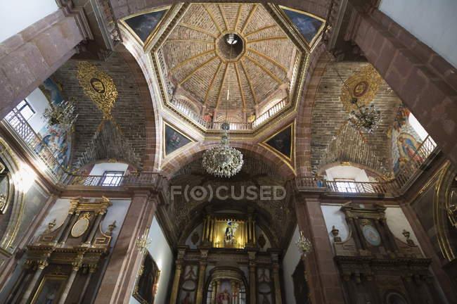 Купол ла Parroquia, Сан Мігель де Альєнде — стокове фото