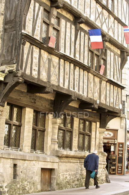 Half timbered ancient house — Stock Photo