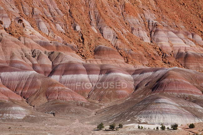Gesteinsschichten in Klippen in Paria River Valley — Stockfoto