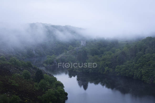 Crozant Castle and River Creuse — Stock Photo