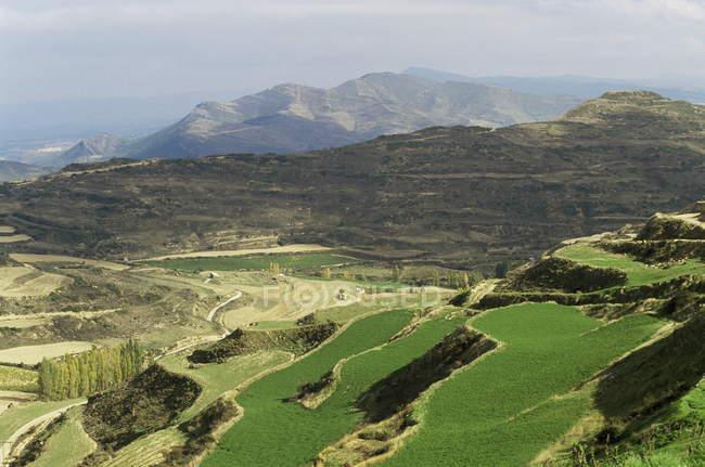 Вид з села Ujue — стокове фото