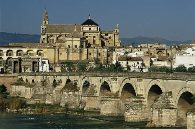 Римських міст через Гвадалквівір Ріо — стокове фото