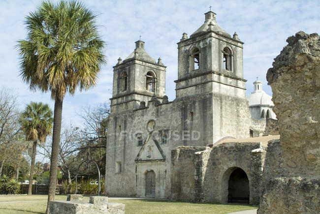 Миссия Консепсьон в Сан-Антонио — стоковое фото