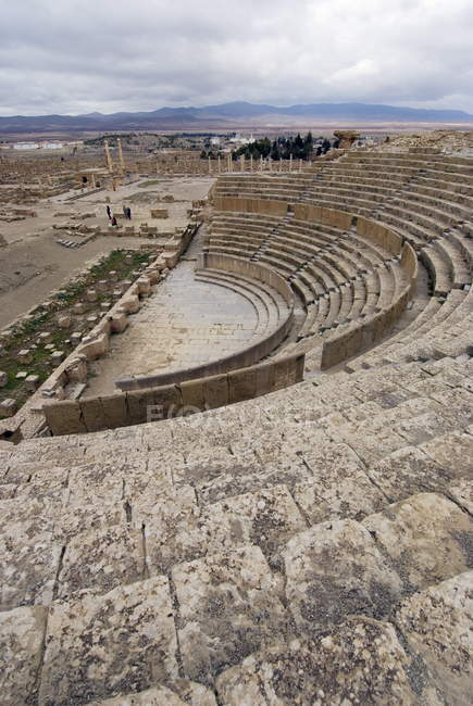Theatre, Roman site of Timgad — Stock Photo