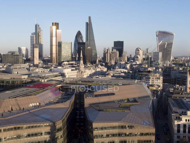 City skyline of London, — Stock Photo