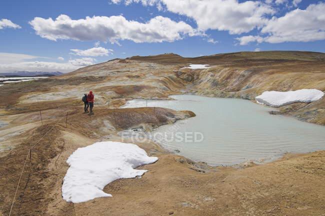 Site de área e erupção térmica Leirhnjukur — Fotografia de Stock