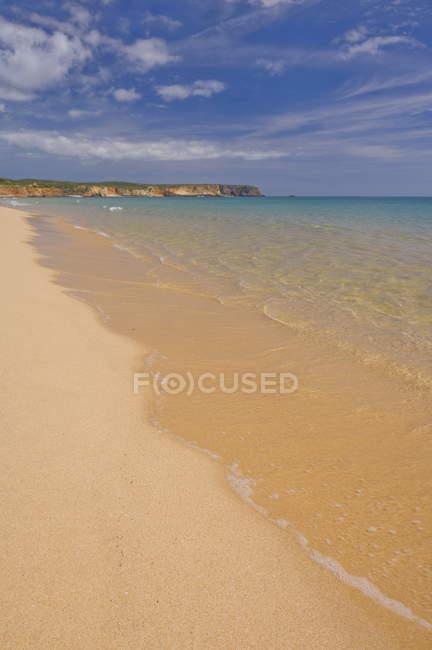 Golden sand on Martinhal beach — Stock Photo