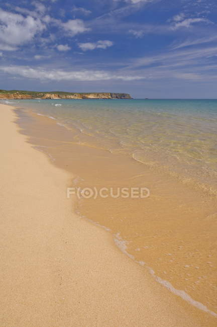 Golden sand on Martinhal beach — Stock Photo