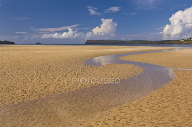 Sand patterns and low tide at Harbour Cove — Stock Photo